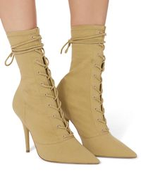 Yeezy - Green Dollar Lace-up Booties - Lyst