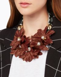 Lizzie Fortunato - Red Samburu Floral Collar Necklace - Lyst