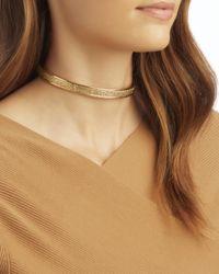 Eddie Borgo | Metallic Pavé Extra Thin Safety Chain Choker | Lyst