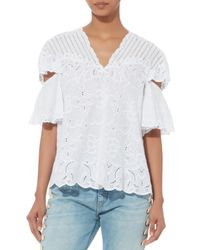 Jonathan Simkhai - White Cutout Embroidery Top - Lyst