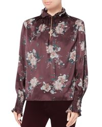 Exclusive For Intermix - Multicolor Evelyn Smocked Floral Top - Lyst