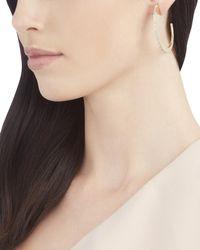 Sarah Magid - Metallic Pavé Slice Hoop Earrings - Lyst
