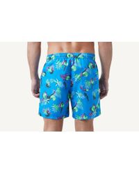 Intimissimi - Blue Full-length Flower Print Swim Trunks for Men - Lyst