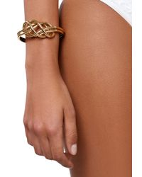 Ivyrevel | Gray Knot Bangle Gold | Lyst