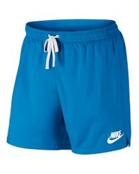 878ce6f021 Nike Flow Woven Shorts in Blue for Men - Lyst