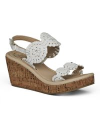 Jack Rogers - White Miss Luccia Wedge - Lyst