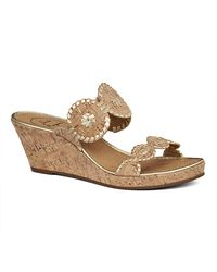 Jack Rogers | Natural Shelby Cork Wedge | Lyst