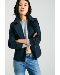 Jack Wills   Blue Hathershaw Cropped Trench Coat   Lyst