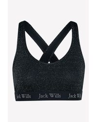 Jack Wills - Black Lenton Metallic Crop Bralet - Lyst