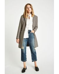 Jack Wills - Brown Chelsea Checked Overcoat - Lyst