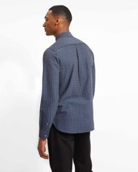 Jaeger - Blue Check Shirt for Men - Lyst