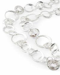 Jaeger - Metallic Melissa Metal And Crystal Loop Long Necklace - Lyst