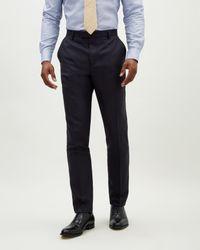 Jaeger - Blue Slim Rib Weave Trouser for Men - Lyst