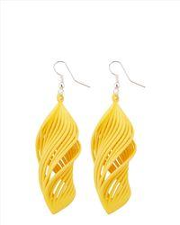 Jaeger - Yellow Wonderluk 3d-printed Earrings - Lyst