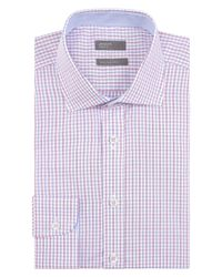 Jaeger - Blue Cotton Regular Check Shirt for Men - Lyst