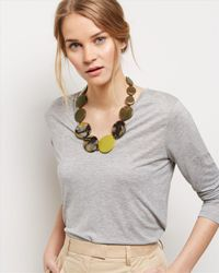 Jaeger | Multicolor Resin Flat Bead Necklace | Lyst