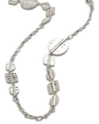 Jaeger - Metallic Rebecca Ridge Disc Station Necklace - Lyst