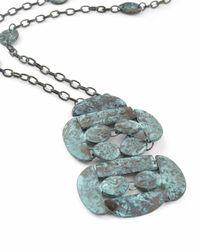 Jaeger - Jo Blue Metal Long Necklace - Lyst