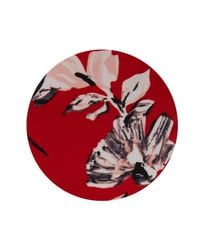 Jaeger - Red Brushstroke Floral Trousers - Lyst