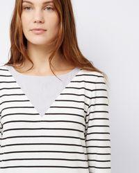 Jaeger - White Jersey Breton Stripe Dress - Lyst