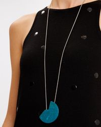 Jaeger - Blue Resin Cut-out Disc Pendant - Lyst