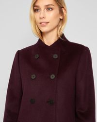 Jaeger - Multicolor Button Detail Collarless Coat - Lyst