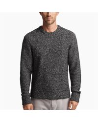 James Perse - Black Chunky Melange Sweater for Men - Lyst