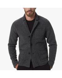 James Perse Gray Merino Blend Sweater Blazer for men