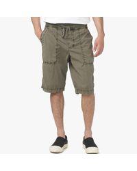 James Perse - Green Cotton Seersucker Utility Short for Men - Lyst