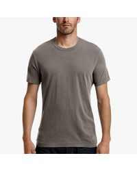 James Perse - Gray Short Sleeve Crew Neck for Men - Lyst