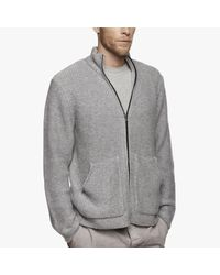 James Perse | Gray Cashmere Zip-up Sweater for Men | Lyst