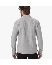 James Perse - Black Textured Jersey Shirt for Men - Lyst