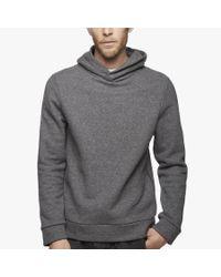 James Perse   Gray Compact Fleece Hoodie for Men   Lyst