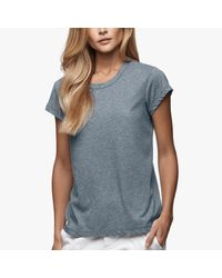 James Perse | Blue Straight Hem Tee | Lyst