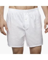 James Perse | White Laundered Cotton Boxer for Men | Lyst