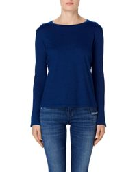 J Brand | Blue Crete Long Sleeve Tee In Indigo | Lyst