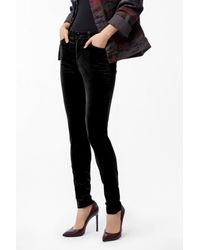 J Brand - Maria High-rise Super Skinny In Black Velvet - Lyst