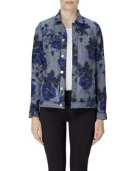 J Brand - Blue Reversible Cyra Oversize Jacket In Corsage - Lyst