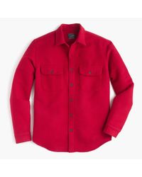 J.Crew - Red Heavyweight Chamois Shirt for Men - Lyst