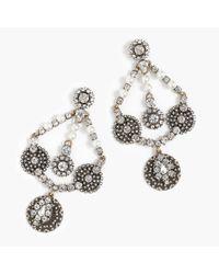 J.Crew - Multicolor Crystal And Pearl Chandelier Earrings - Lyst