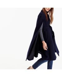 J.Crew - Blue Collection Italian Wool Cape Coat - Lyst