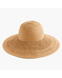 J.Crew | Natural Textured Summer Straw Hat | Lyst