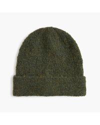 J.Crew - Green Knit Hat In Italian Boucle Yarn - Lyst