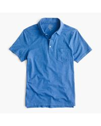 J.Crew | Blue Slim Broken-in Pocket Polo Shirt for Men | Lyst