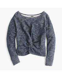 J.Crew - Blue Twist-front Sweatshirt - Lyst