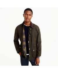J.Crew - Green Barbour Sylkoil Ashby Jacket for Men - Lyst