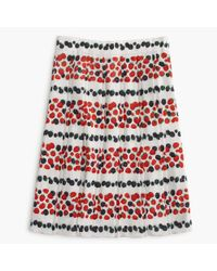 J.Crew - White Tall Pleated Skirt In Berry Print - Lyst