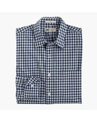 J.Crew | Slim Washed Thomas Mason Shirt In Blue Gingham for Men | Lyst