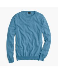 J.Crew | Blue Cotton-cashmere Crewneck Sweater for Men | Lyst