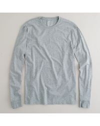 J.Crew | Gray Slim Broken-in Long-sleeve T-shirt for Men | Lyst